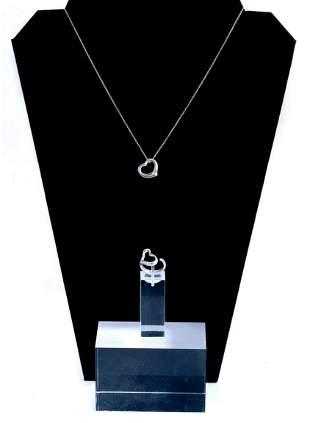 Elsa Peretti Tiffany & CO 925 Ring & Necklace