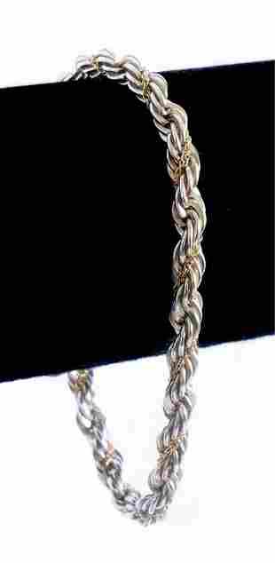 Tiffany & Co 18K YG 925 Gold Rope Bracelet