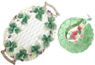 Fitz & Floyd Berry Tray and Plate w/Spoon Rest