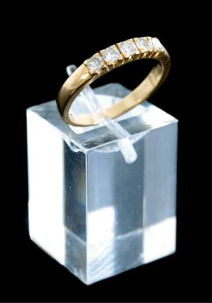 10k Yellow Gold 0.31ctw Diamond Ring, Size 5.5