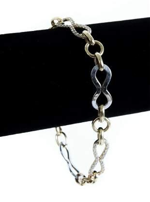 10K Yellow & White Gold Diamond Bracelet