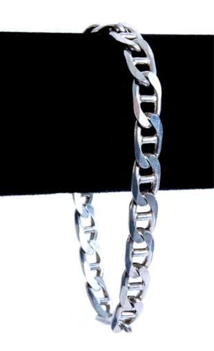 Italian Sterling Silver Anchor Chain Bracelet