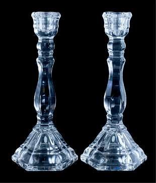 Tiffany & Co 'Hampton' Crystal Candlestick Holders