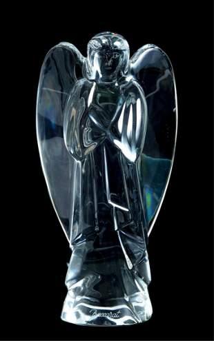 Baccarat Crystal Nativity Angel 6 inch