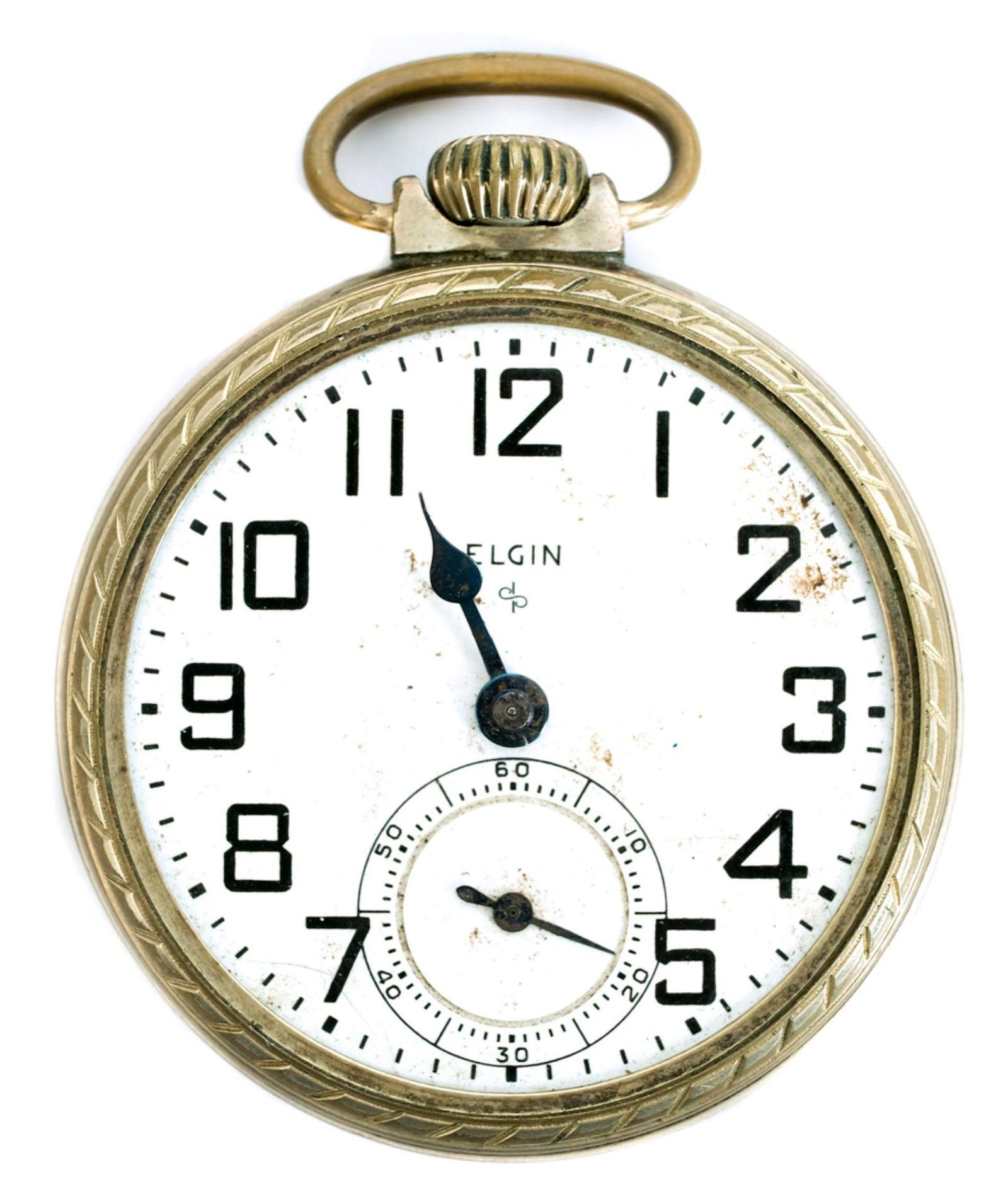 Elgin Model 575 Rolled Gold Open Face Pocket Watch
