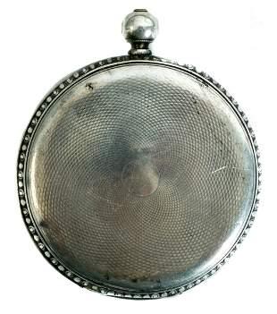 M.J. Tobias Key Wind Silver Pocket Watch