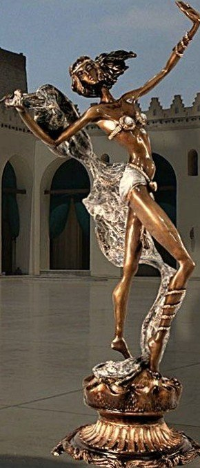 "5: SERGEY ""EGYPTIAN DANCER"" ORIGINAL BRONZE SCULPTURE"