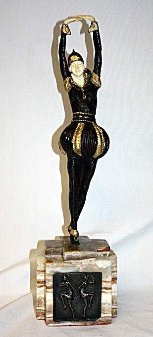 La Bayadere- Bronze and Ivory Sculpture by Chiparus