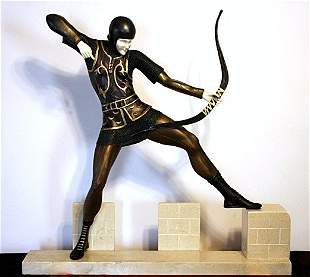 Signal Man - Bronze and Ivory Sculpture by Pierre