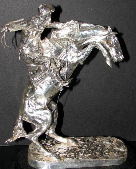 "17: REMINGTON ""BRONCO BUSTER"" .999 FINE SILVER"