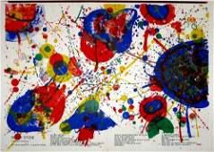 378: Sam Francis original lithograph