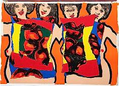447: Alfred Leslie original lithograph, 1964