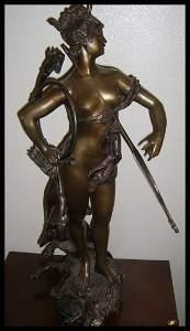 "549: ""The Huntress"" Bronze Sculpture"