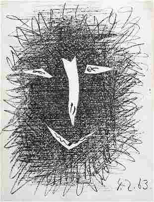 """Pablo Picasso """"Satyr I"""" original lithograph"""