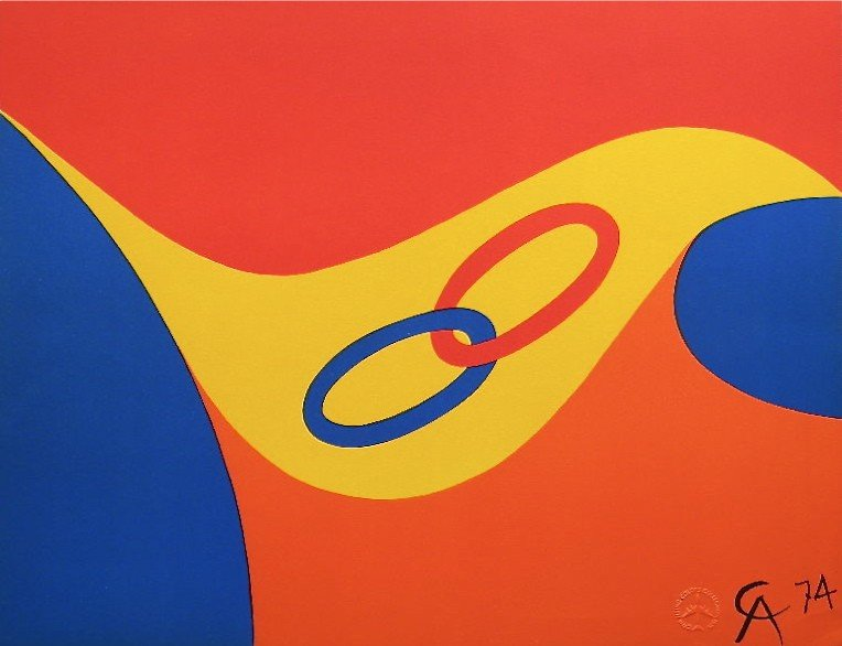 "12: Alexander Calder original lithograph ""Friendship"""