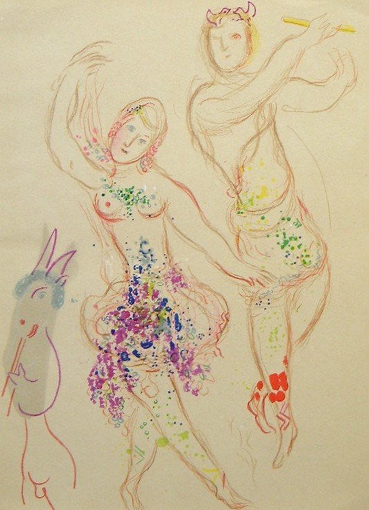 "21: Marc Chagall original lithograph ""The Ballet"""