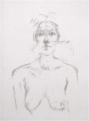 Alberto Giacometti original lithograph, 1960