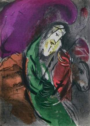 "Marc Chagall ""Jeremiah"" original Bible lithograph"