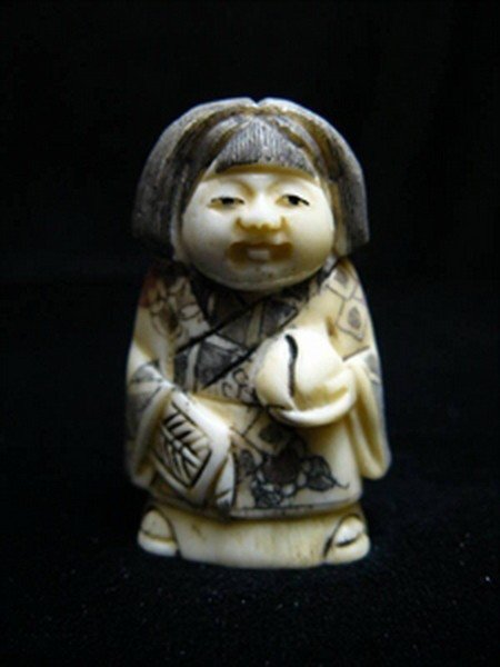 26: ANTIQUE BONE JAPANESE NETSUKE