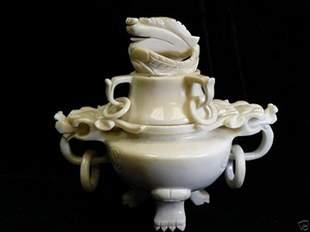 Med. White Jade Incense Burner