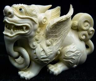 Pair of Ivory Unicorn