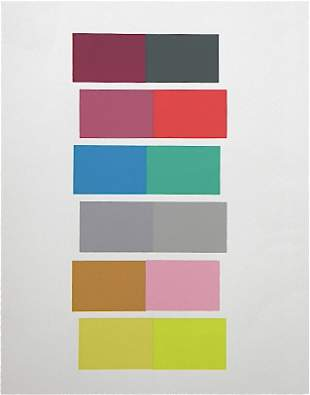 Josef Albers silkscreen | Interaction of Color, 196