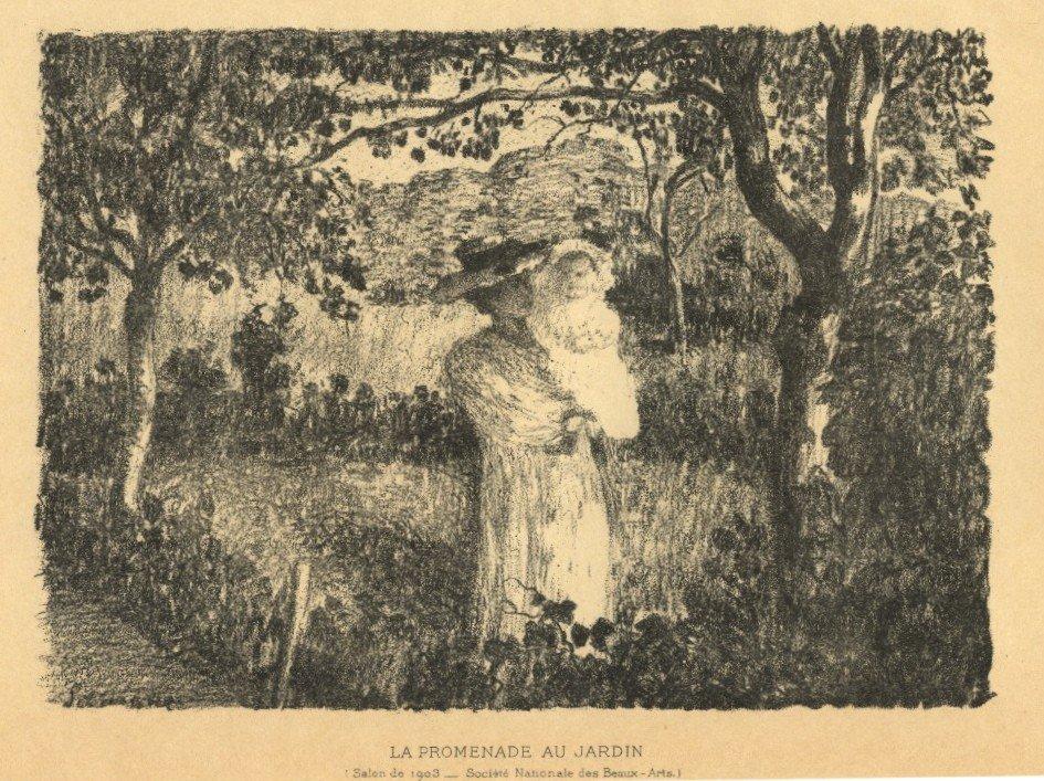 "33: Henri Lebasque original lithograph ""La promenade au"