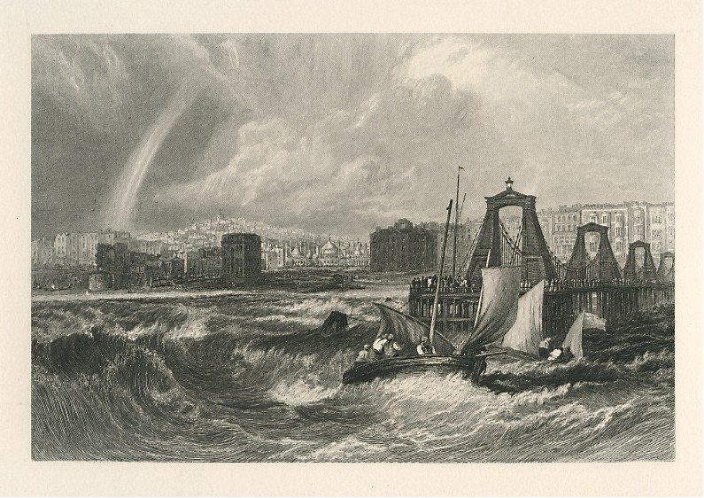 "41: J. M. W. Turner ""Brighthelmstone"" engraving"