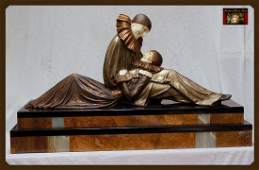 704A: Eternal Story - Bronze And Ivory Sculpture