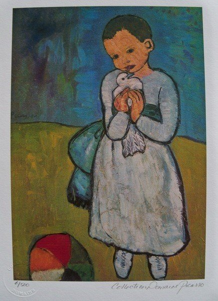 13: Pablo Picasso Child With Dove Estate Signed Limited