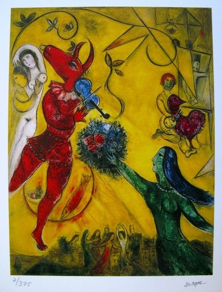 21: Marc Chagall The Dance & The Circus Limited Ed. Gic