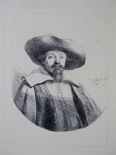 23: Rembrandt Samuel Menasseh Ben Israel Etching