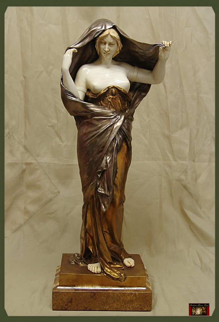 956: Nature Revealing  - Bronze And Ivory Sculpture