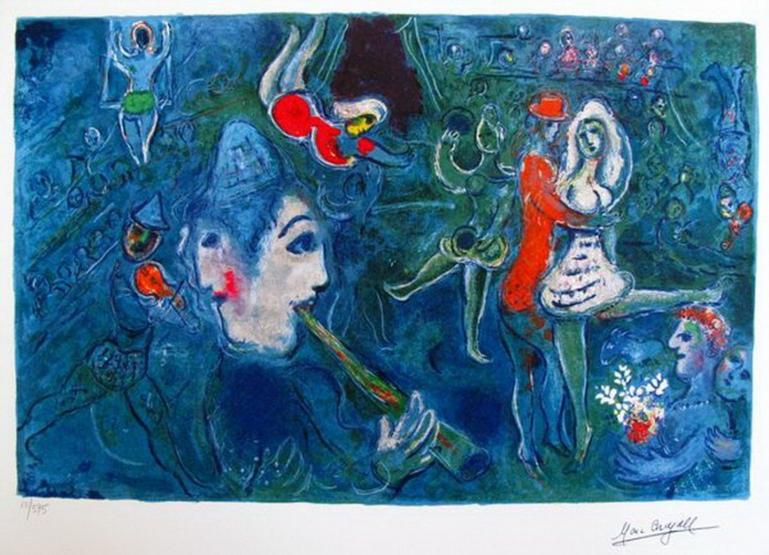 7: Marc Chagall Circus Clown & Dancer Limited Ed. Small