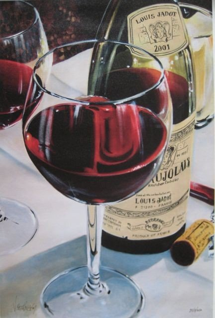 8A: Victor Ostrovsky BEAUJOLAIS Hand Signed