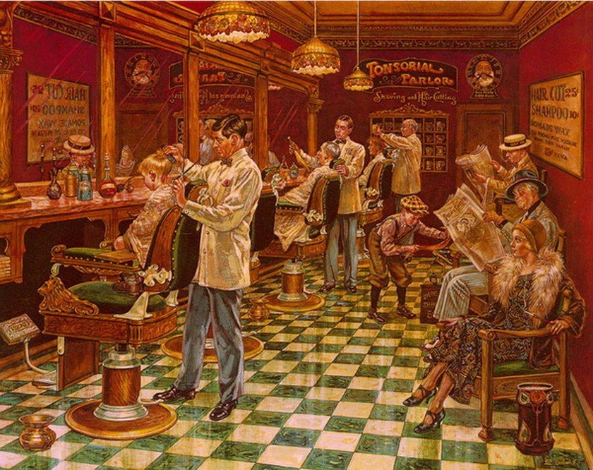 7A: Lee Dubin BARBER SHOP Hand Signed