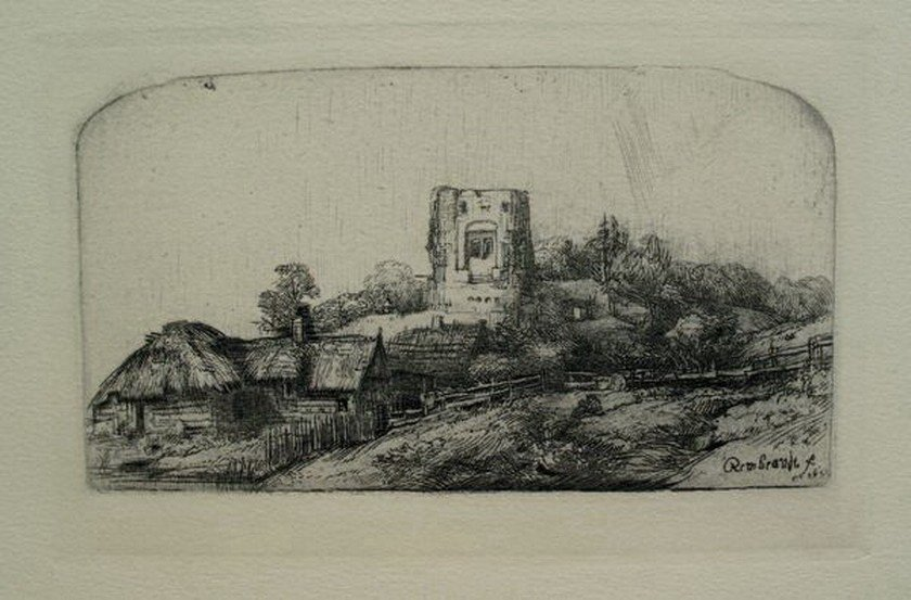 7: REMBRANDT LANDSCAPE WITH A SQUARE TOWER