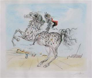 311: DALI TRANSPARENT HORSEMAN HAND SIGNED