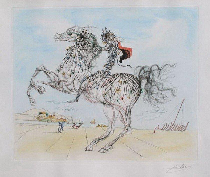 311: DALI TRANSPARENT HORSEMAN HAND SIGNED