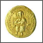 442B: Byzantine Gold Christ Coin