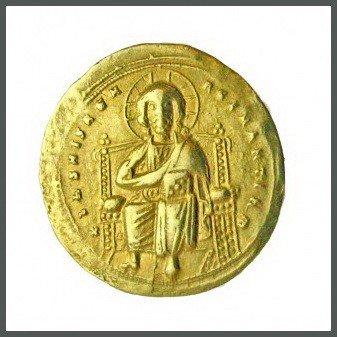 442B: Byzantine Gold Christ Coin