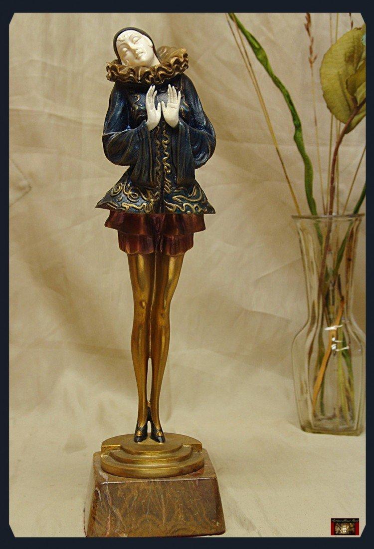 3D: Dimitri Chiparus - Pierrite - Bronze And Ivory Scul