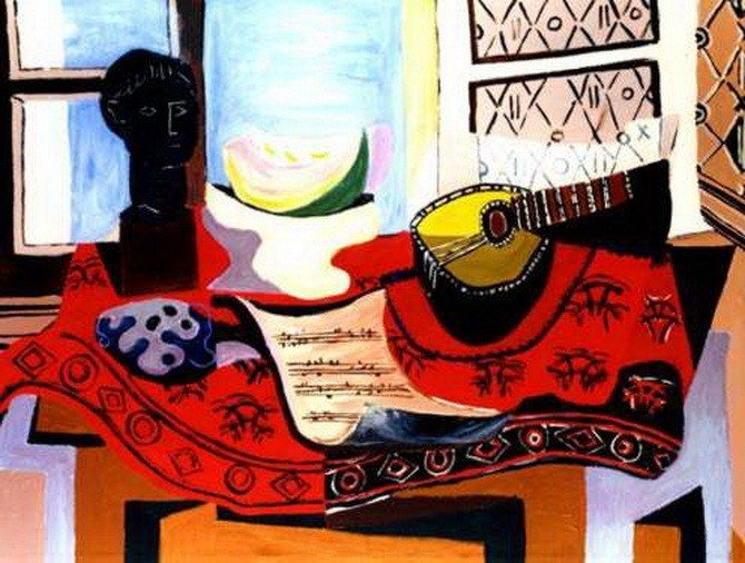 7A: #02 STILL LIFE WITH MANDOLIN PICASSO
