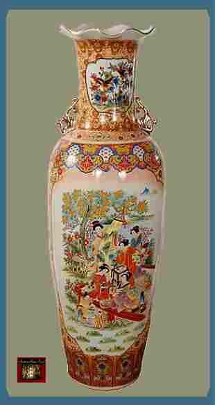 11K: 42 Oriental Geisha GardenVase