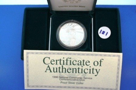 121: One (1) 1996 Proof Silver 1$ National Community Se