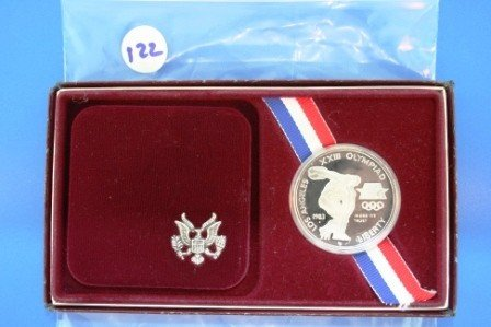 122: One (1) 1983 Proof Silver 1$ Olympic Commemorative