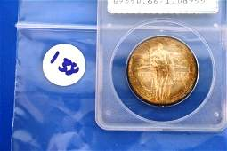 138: One (1) Graded MS66 1938 S Oregon Half Dollar