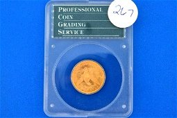 267: (1) PCGS graded MS63 1900 5$ GOLD eagle coin