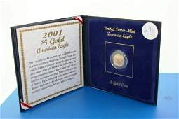 271: (1) 2001 BU GOLD American Eagle 5$ coin