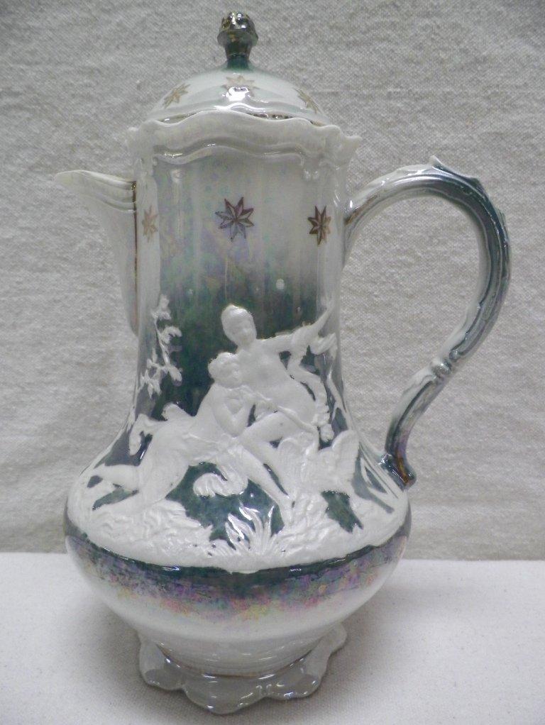 Altenburg Saxony Teapot Lusterware Nude